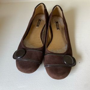 Ecco Women Flat Shoes Brown 39